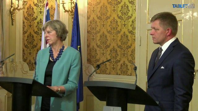 Britska premierka na navsteve Slovenska