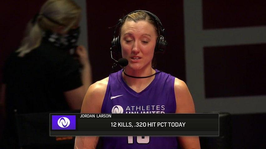 Athletes Unlimited Volleyball - Match 1 - Purple v Orange