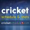 Cricket Schedule & Stats