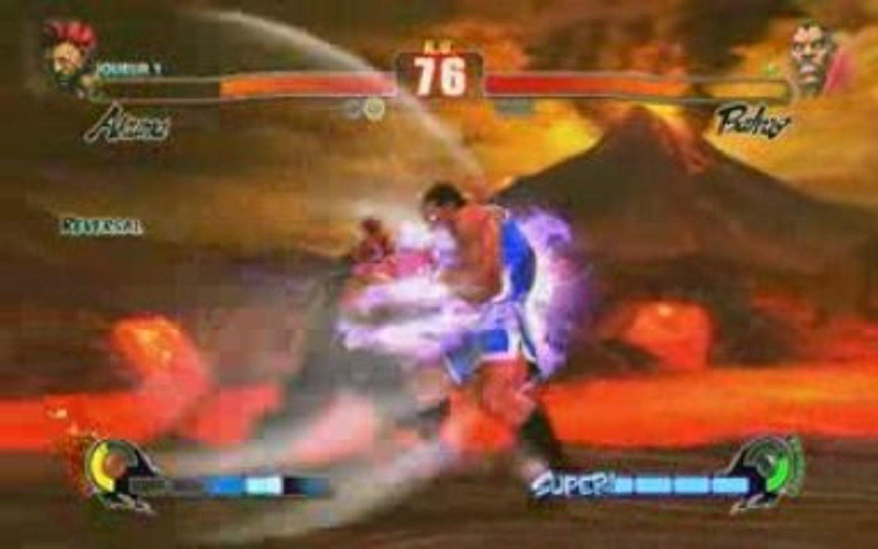 Street Fighter IV PC Akuma vs Balrog fraps test