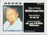 Communiqués nécrologiques 02-07-09