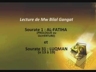 Récitation d'extraits de Sourate Louqman par Mw Bilal Gangat