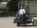 Première voiture roulant à l'air comprimé