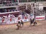 Calgary Stampede : Rodeo a cheval avec selle