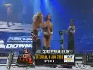 CM Punk And Rey Mysterio vs Chris Jericho And Edge P1