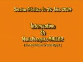 Intervention Marie-FrançoiseMULLER