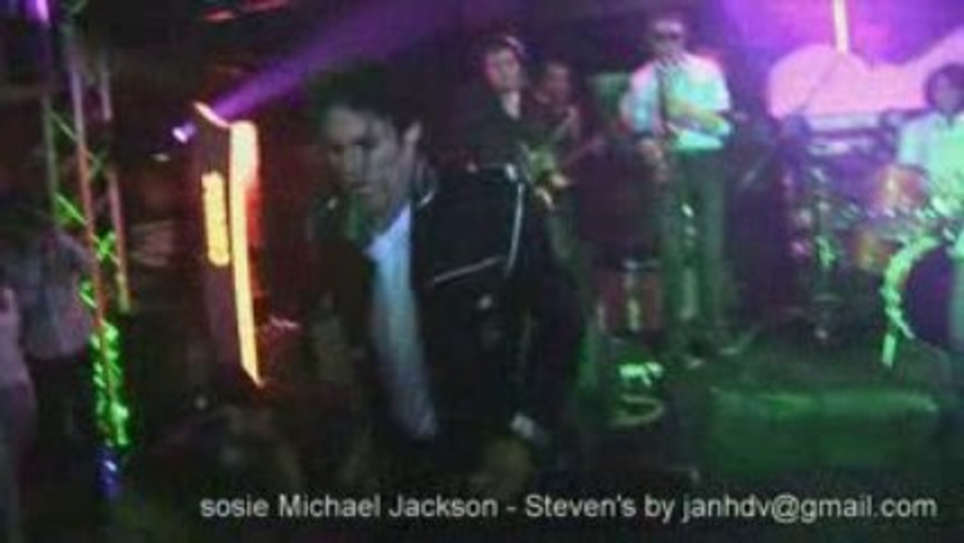 Michael Jackson sosie Steven 7 julliet 2009 hommage