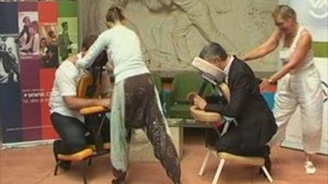 2eme RSI Bourgogne Demonstration de massage de AMMA Assis