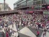 Michael Jackson Beat It: Flash mob Sergels Torg, Stockholm