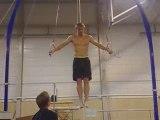 Athlé Andreas Thorkildsen entrainement gym anneaux
