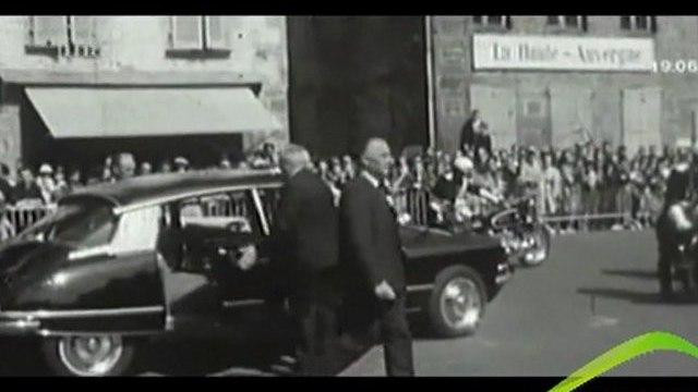 Georges POMPIDOU dans le Cantal en 1966