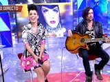 Ruth Lorenzo singing Burn live on Spanish TV (Cinco) - Acoustic version (unplugged)