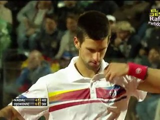[HD] SET2 Rafael Nadal vs Novak Djokovic FINAL ROMA 2011 [Video Resumen - Long Highlights]