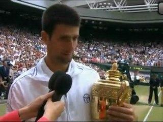 Ceremonia entrega trofeos Final Wimbledon 2011 Nadal vs Djokovic