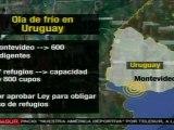 Ola de frío en Uruguay deja al menos 4 muertos