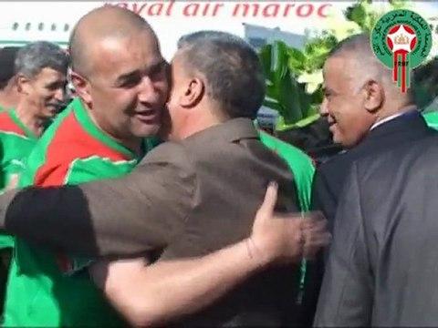 Arrivée de l'équipe nationale Algérienne au Maroc