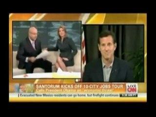 2012 - Rick Santorum Embarrasses Himself On CNN - The Young Turks