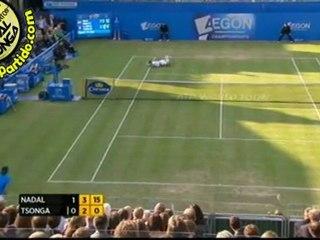 Rafael Nadal vs Jo-Wilfried Tsonga QF QUEENS 2011 [Hot Shots by Courtyman]