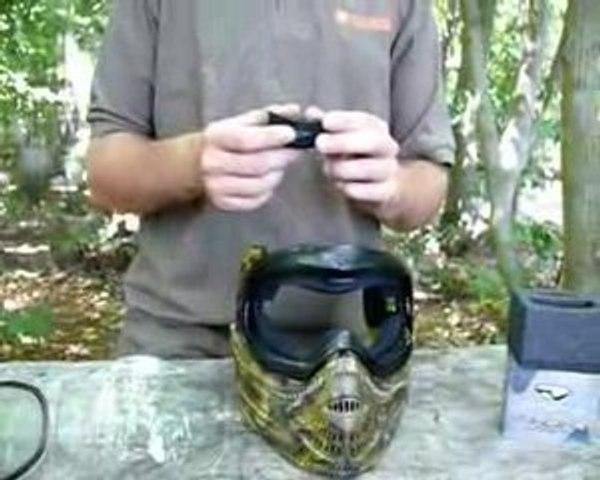 systeme anti-buée pour masque de paintball