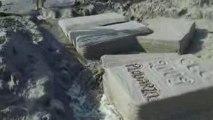 les livres en sculptures de sable été 2009