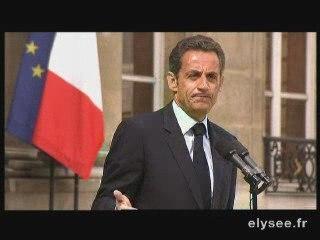 Déclaration de Nicolas Sarkozy sur sa santé