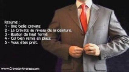 Le noeud de cravate Simple - Faire un noeud de cravate