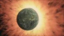 Collision de 2 exoplanètes