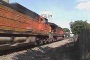 BNSF: intermodal W.B. meets intermodal E.B.