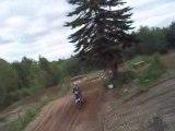Moto Cross saint apollinaire 2 saut en monté
