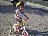 Fantine à vélo juillet 2009