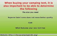Cheap Camping Tents - Sleep In Comfort On Your Expeditions