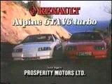 Pub asiatique Renault Alpine GTA et V6 Turbo