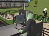 Sims 2: Alien is playing Sims 3