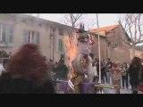 Bûcher de Caramentran - Carnaval Varages'08 - FADAS Pézenas