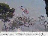 Grèce : mobilisation des pompier contre les incendies