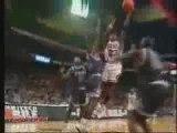 Shaq Blocks Michael Jordan, basketball, nba