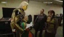 Goldlust & Hornswoggle Backstage with Vickie & Chavo
