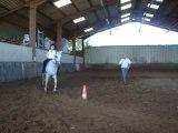 4 eme cours d'équitation de sylvie à bozouls (aveyron)