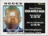 Communiqués nécrologiques du 10-09-09