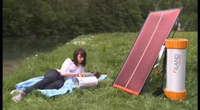 Panneau solaire photovoltaïque portatif souple avec batterie