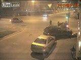 L'accident à l'intersection avec tonneaux