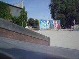 Moi en skate (boardslide)