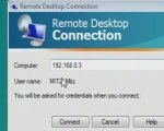 Connect to another network computer using remote desktop