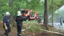 Feu Forret - Interventsions  des pompiers de SDIS de l'ETRAZ