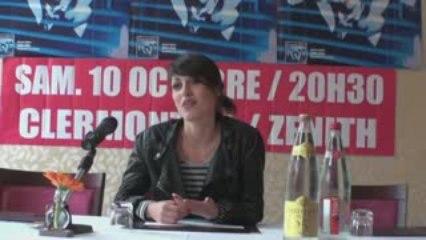 Conférence de presse Jennifer Ayache - Superbus
