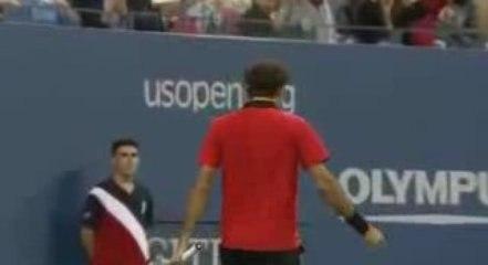 Federer - Son plus beau coup - US Open 2009