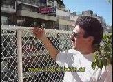 Detalles constructivos de un cerramiento de red en un balcon
