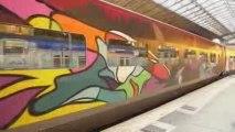 Train Thalys TGV graffé par JONONE, NUNCA, OPAK, SEAK, SOZYO