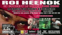 ROI HEENOK EN CONCERT  SUR PARIS LE 10 OCTOBRE 2009