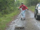 Mountainboard crash, chute